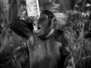 Give a chimp a termite, he'll eat for a day. Teach him how to fish for termites, he'll sit on a tree stump and drink palm wine all day.