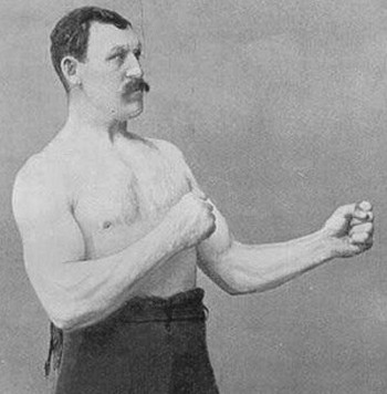 Racist McShootFace was a five-time bare-knuckle boxing champion in the 1880s.