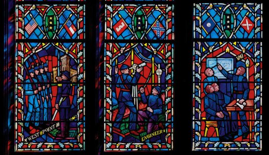 "How is it that the 1950s added ""God"" to the pledge, money and any other government surface, but somehow removed Jesus from stained glass windows in the National Cathedral?"
