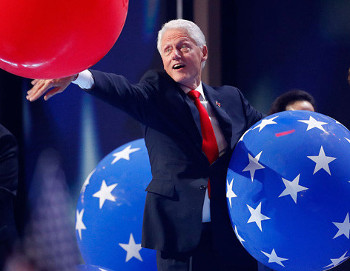 Bill Clinton's weakness used to be women. Now it's large balloons.