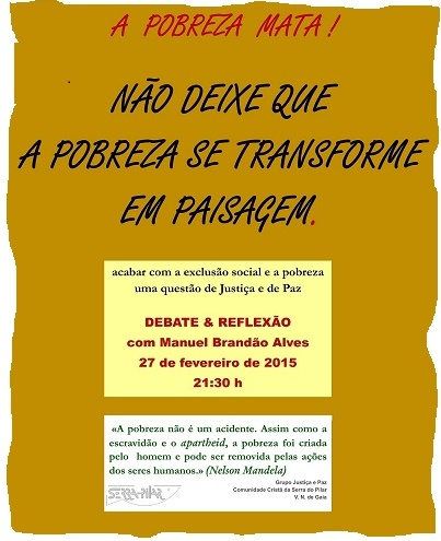 Cartaz Debate Pobreza