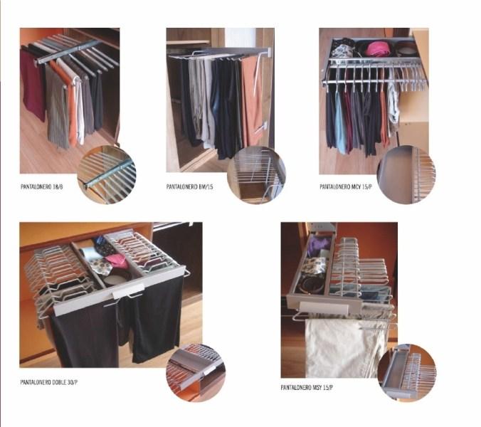 Accesorios para interiores de armario pantaloneros Accesorios para decorar interiores