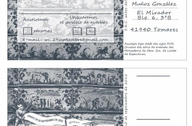 Postal de confirmación de asistencia Monasterio Ntra. Sra. de Loreto