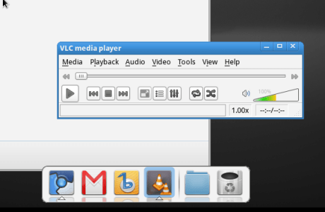 Fuduntu - Chromium and VLC open and VLC has active focus