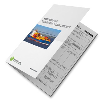 images for canada customs invoice