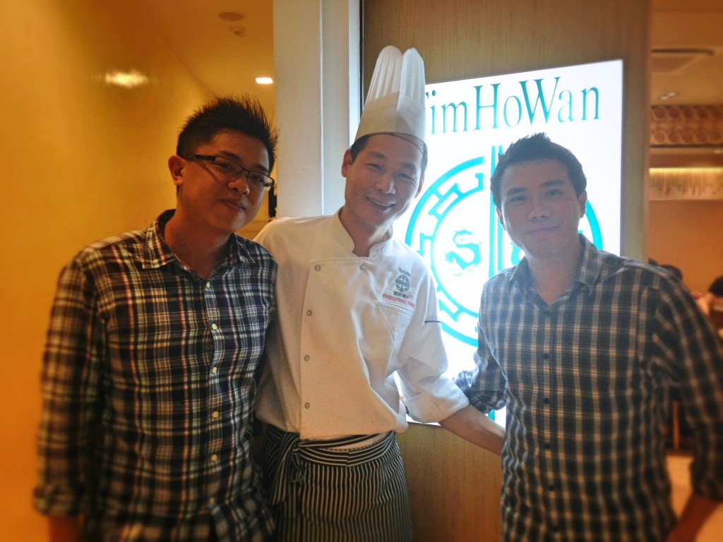 Seth Lui with Chef Cheung and Chef Warren
