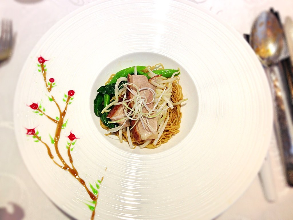 hua ting noodles with roasted duck