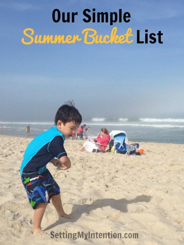 our simple summer bucket list