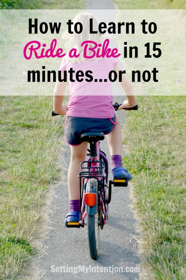 how to learn to ride a bike in 15 minutes
