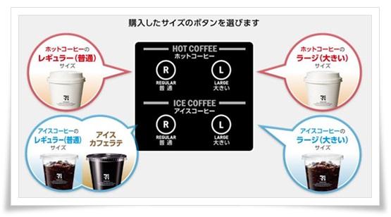 セブンコーヒーの買い方&入れ方!カップの使い方や持ち帰り方法も、コーヒーメーカーボタン