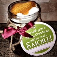 S'mores Cake in a Jar {Homemade Gift for Teachers}