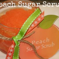 Peach Sugar Scrub Recipe {homemade gift idea}