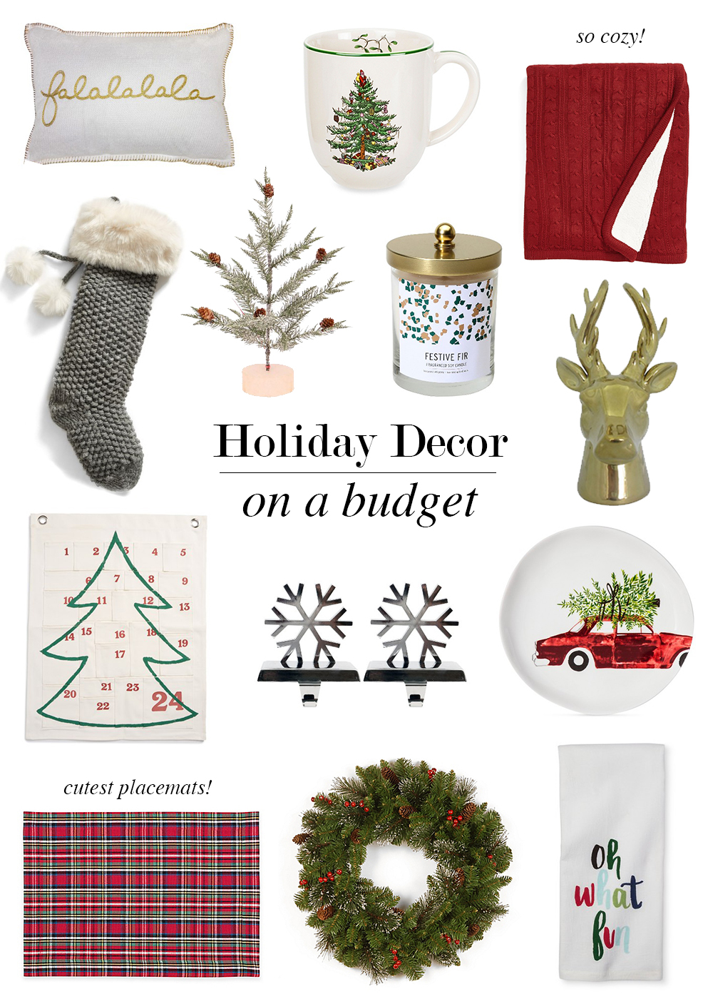 Holiday Decor On A Budget Seventeen Dresses