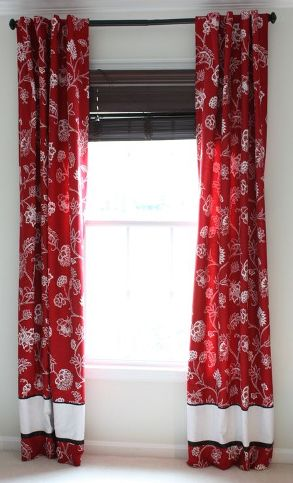 Tutorial Fully Lined Tab Top Curtains Sewing