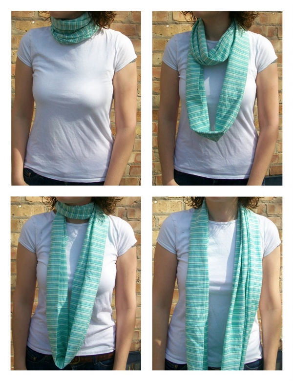 tutorial how to make an infinity scarf sewing