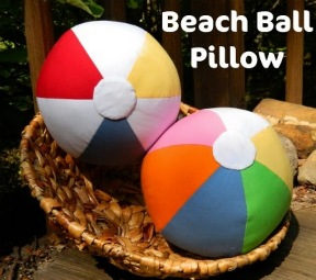 Free Pattern Beach Ball Pillow Sewing