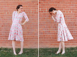 Turn-a-Tee-Pattern-Into-a-Dress-One-Little-Minute-Blog-Cute-Tribal-circle-dress