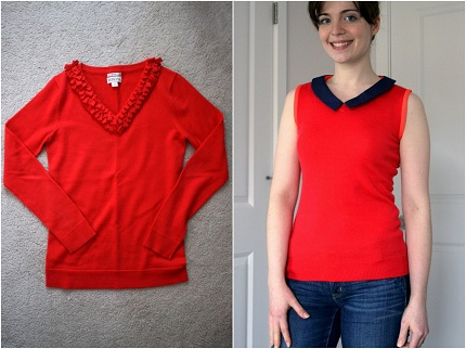 Sweater to sleeveless makeover-031