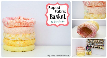 Roped Fabric Basket Sew Can Do