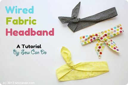 Wired Headband Tutorial Sew Can Do