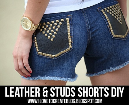 leather-and-studs-shorts-DIY