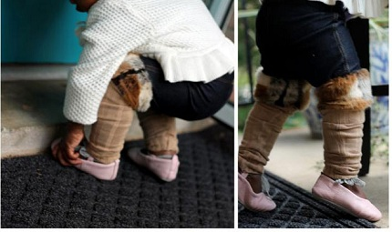 Tutorial: Faux fur legwarmer jeggings for baby girls