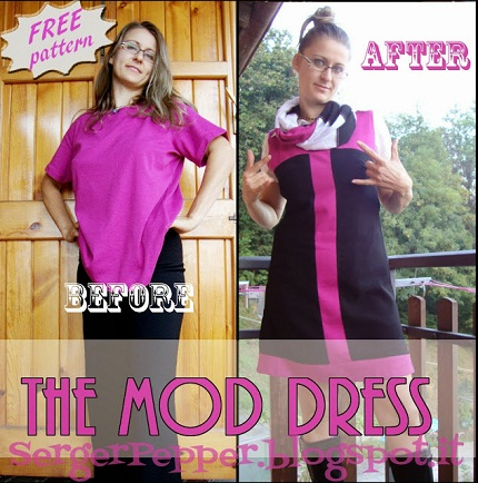 Free pattern: Mod shift dress