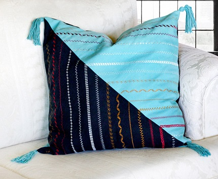 Tutorial: Decorative stitch sampler pillow