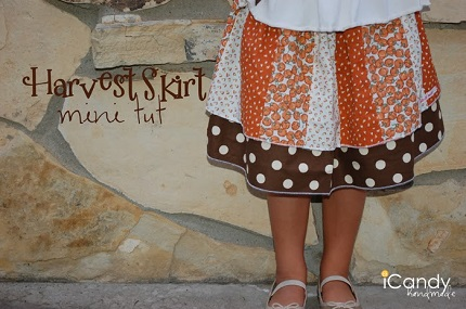 Tutorial: Little girl's layered patchwork twirly skirt