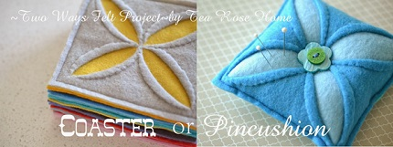 Tutorial: Mod flower felt coaster or pincushion