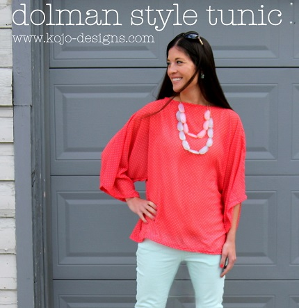 Tutorial: Flowy dolman tunic with French seams