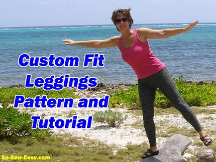 Tutorial: Draft and sew a pair of custom fit leggings