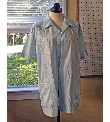 Tutorial: Take in a guayabera and maintain the details