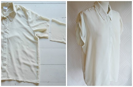 Tutorial: 90s silk blouse refashion