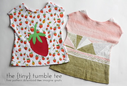 Free pattern: Tumble Tee in 3 month size