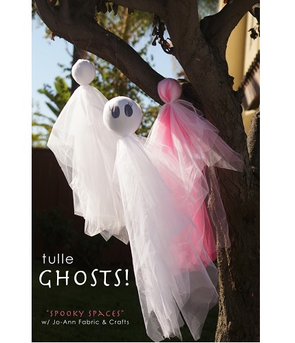Tutorial: Cute tulle ghosts for Halloween