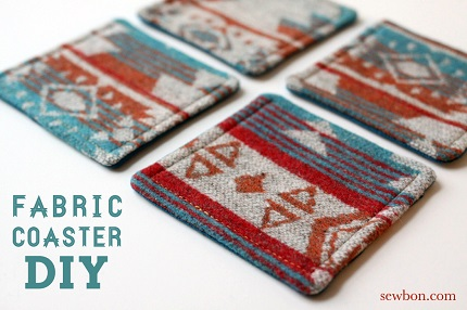 Tutorial: Easy fabric coasters