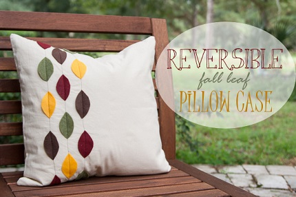 Tutorial: Reversible pillow cover for fall and Christmas