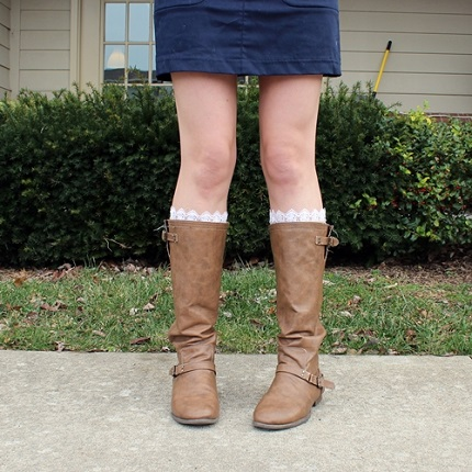 Lace Trim Boot Socks Tutorial Lace Trimmed Boot
