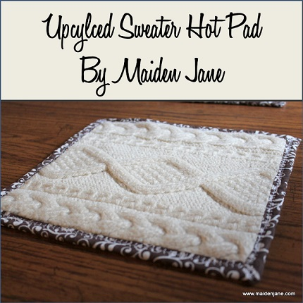 Tutorial: Upcycled sweater hot pads or trivets