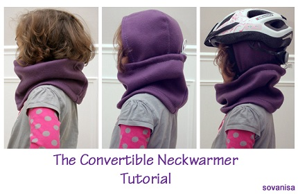 Tutorial: Child's convertible neck warmer