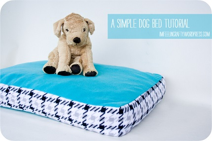 Tutorial: Simple fleece dog bed