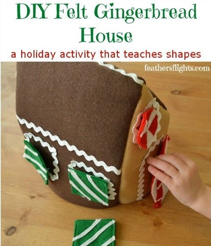 Tutorial: Felt gingerbread house toy