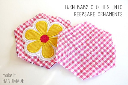 Tutorial: Make keepsake Christmas ornaments from baby's clothes