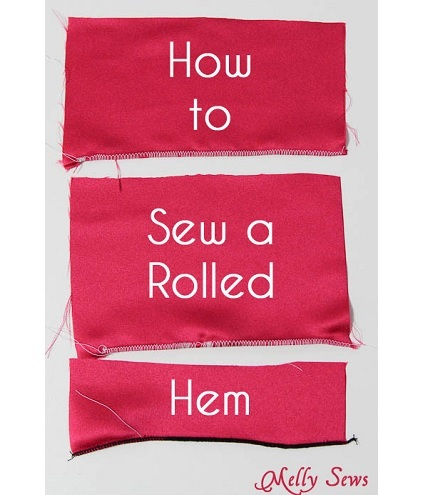 Tutorial: Rolled hem, three ways