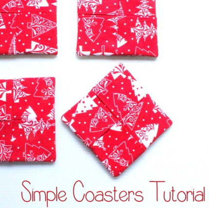 Tutorial: Easy folded and tucked fabric coasters