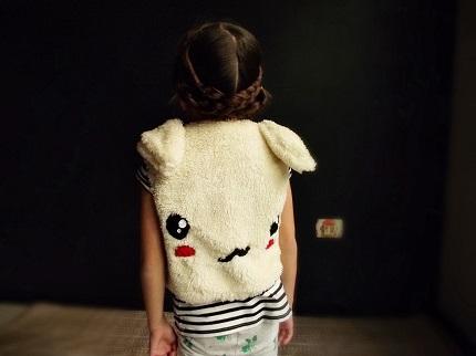 Free pattern: Faux fur bunny face vest