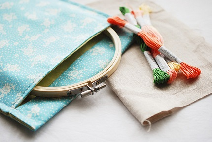 Tutorial: Embroidery project pouch