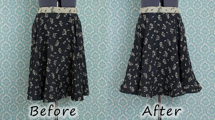Video tutorial: Add horsehair braid to a skirt hem
