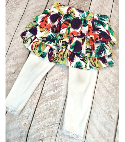 Tutorial: Add a ruffle skirt to little girl leggings